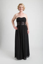 Black Strapless Ruched Bust Long Dress (size 10)