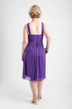 Purple Halterneck Shirred Short Party Dress