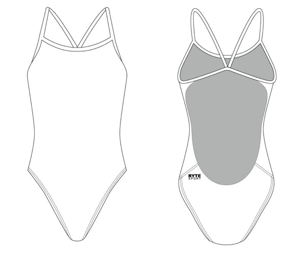 Women's Cut Out Thin Strap Swimsuit