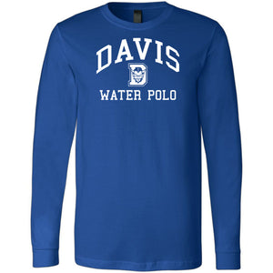 Davis High School Water Polo 2019 Royal Long Sleeve Jersey Tee