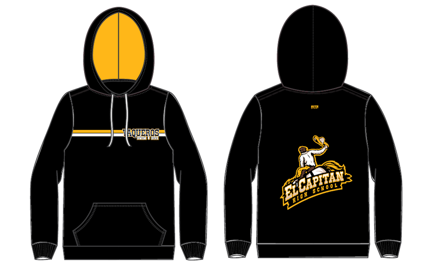 El Capitan High School Swim & Dive Team Black Adult Unisex Hooded Sweatshirt