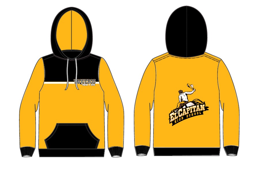 El Capitan High School Swim & Dive Team Gold Adult Unisex Hooded Sweatshirt
