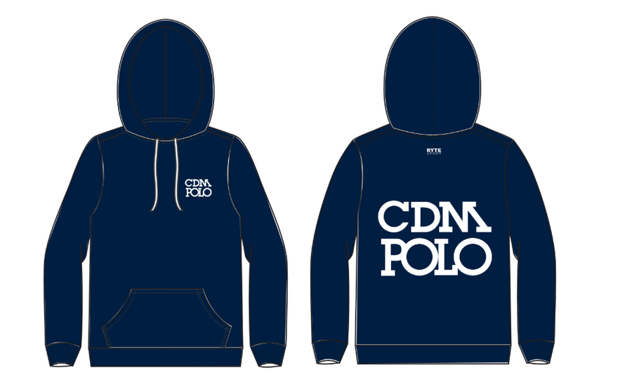 Corona Del Mar Boy's Water Polo Navy Unisex Adult Hooded Sweatshirt