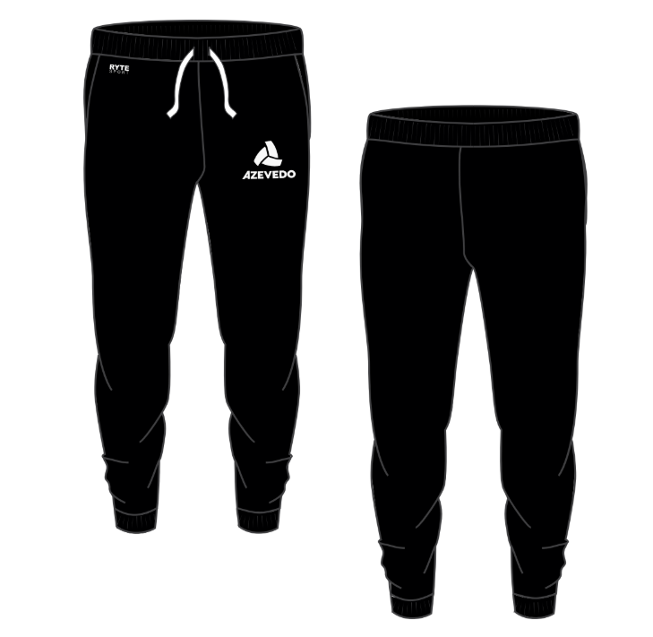 Azevedo Water Polo Black/White Adult Unisex Jogger Sweatpants
