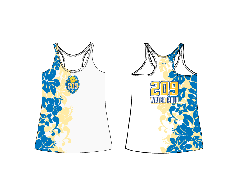 209 Water Polo Club 2019 Racerback Tank Top