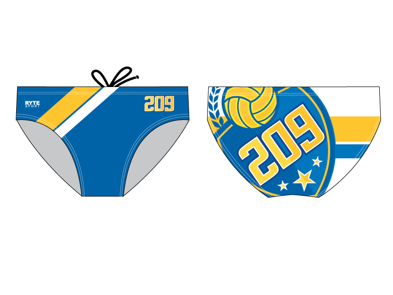 209 Water Polo Club Custom Men's Swim & Water Polo Brief