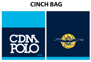 Corona Del Mar Boy's Water Polo Cinch Bag