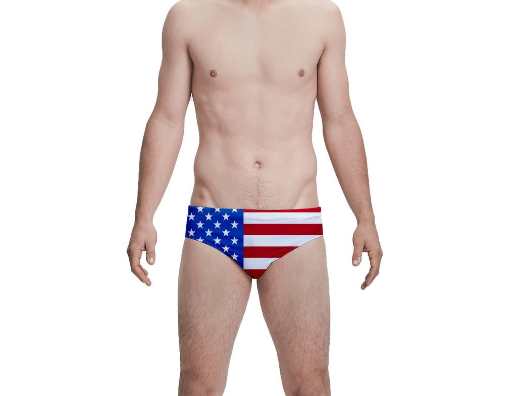 Trump USA Flag Custom Men's Swim Brief