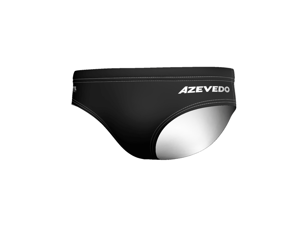 Azevedo Black Water Polo Men's Water Polo Brief
