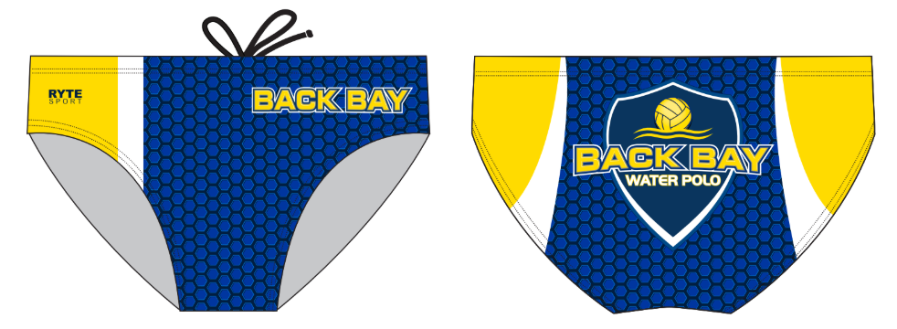 Back Bay Water Polo Club Custom Men's Water Polo Brief