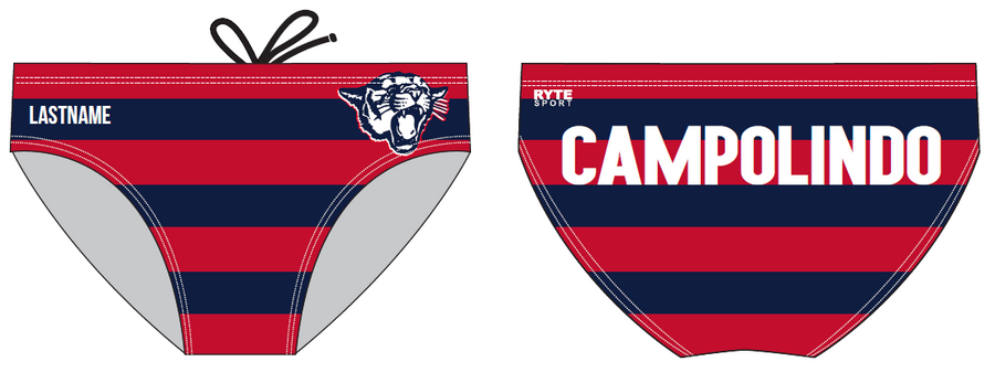 Campolindo High School Custom Men's Water Polo Brief