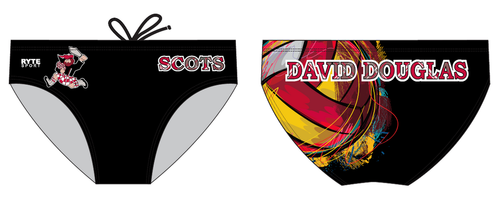 David Douglas High School 2019 Custom Men's Water Polo Brief