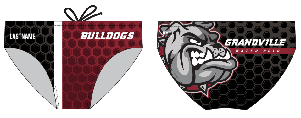 Grandville High School Custom Men's Water Polo Brief