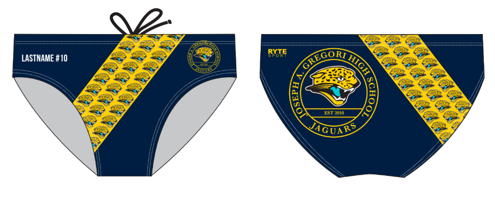 Gregori High School Custom Men's Water Polo Brief