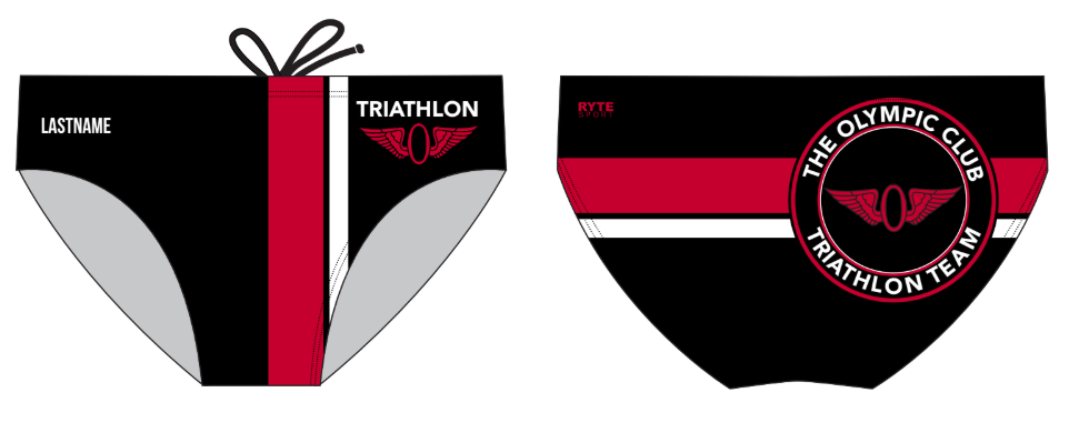 Olympic Club Triathlon Team Custom Men's Swim & Water Polo Brief