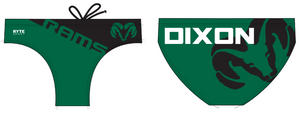Dixon High School Water Polo Custom Men's Water Polo Brief