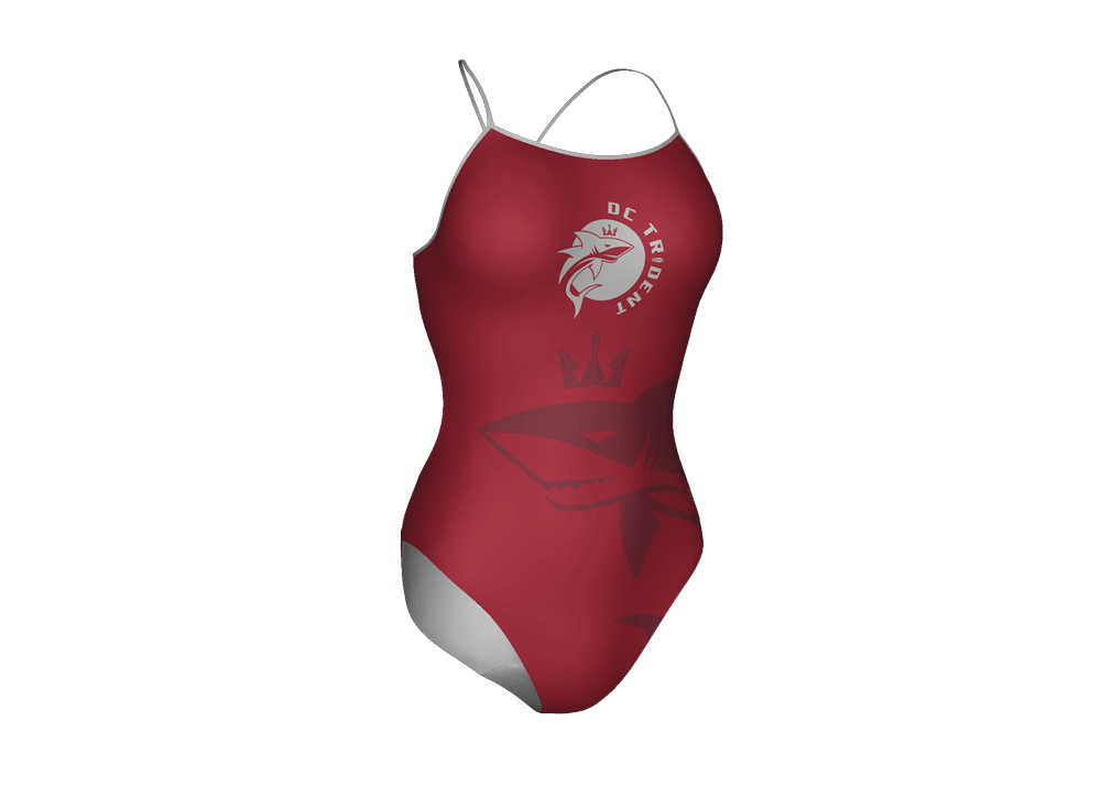 DC Trident Custom Women's Open Back Thin Strap Swimsuit