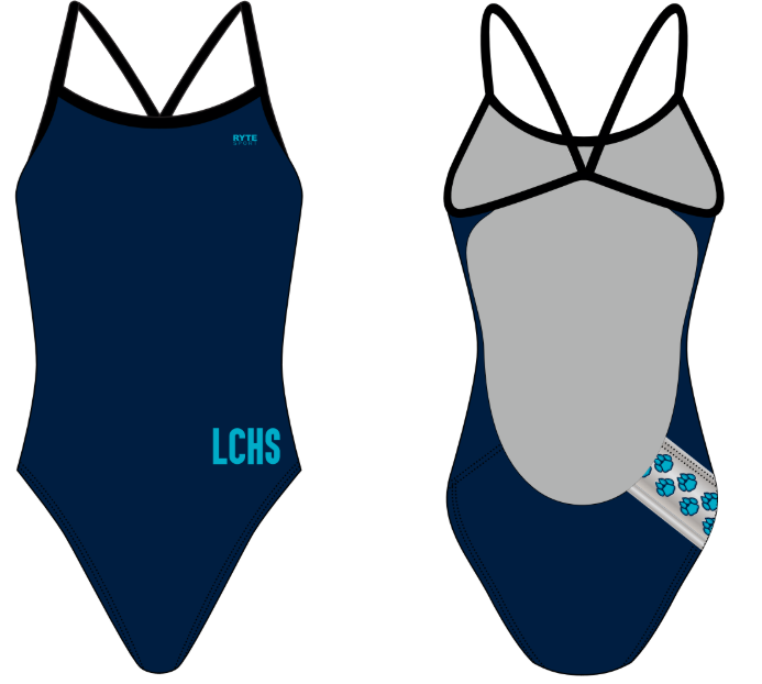 Lake City High School Custom Women's Open Back Thin Strap Swimsuit