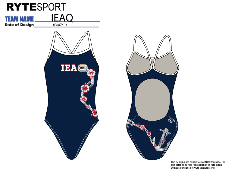 IEAQ Swim 2019 Custom Women's Active Back Thin Strap Swimsuit