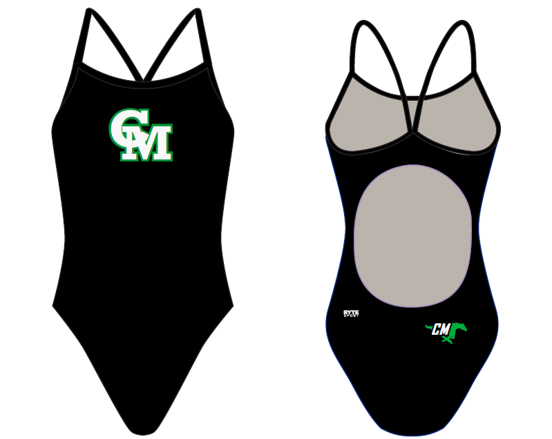 Costa Mesa High School Girls Active Back Thin Strap Swimsuit