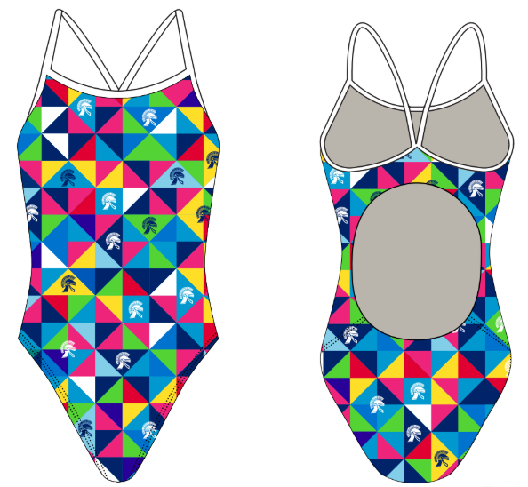 Trojan Aquatics Custom Women's Active Back Thin Strap Swimsuit
