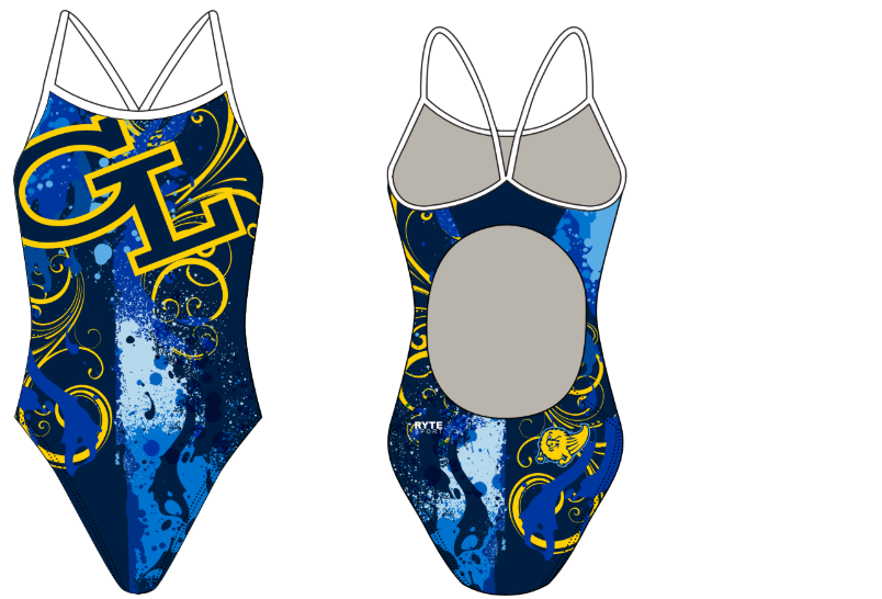 Grand Ledge High School Custom Women's Active Back Thin Strap Swimsuit