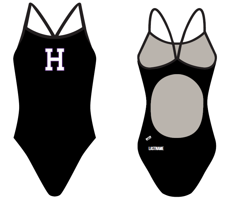 Hoover High School 2019 Swim Team Women's Active Back Thin Strap Swimsuit