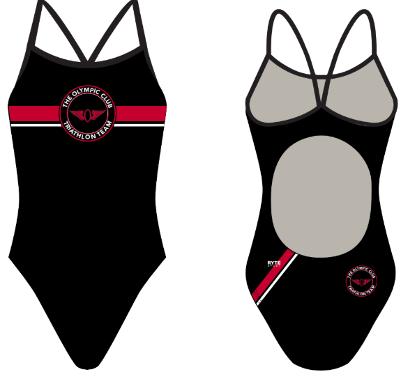 Olympic Club Triathlon Team Custom Women's Active Back Thin Strap Swimsuit