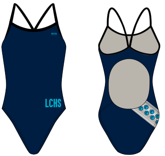 Lake City High School Custom Women's Active Back Thin Strap Swimsuit