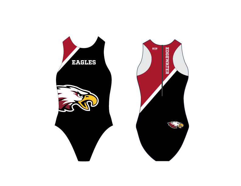 Edgewater High School Water Polo 2020 Custom Women's Water Polo Suit - Personalized