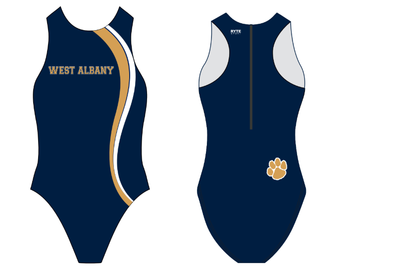 West Albany High School Custom Women's Water Polo Suit