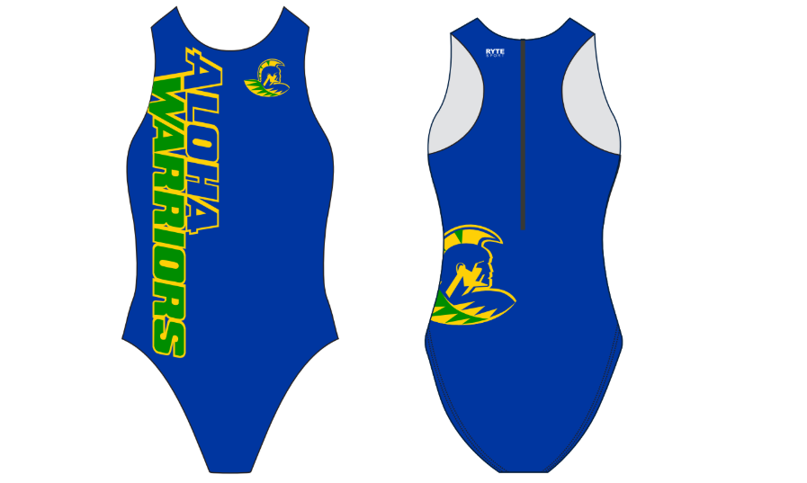 Aloha High School Water Polo Custom Women's Water Polo Suit
