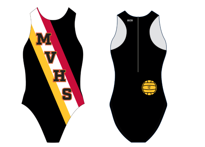 Mission Viejo High School Water Polo Girls Water Polo Suit - Personalized Number