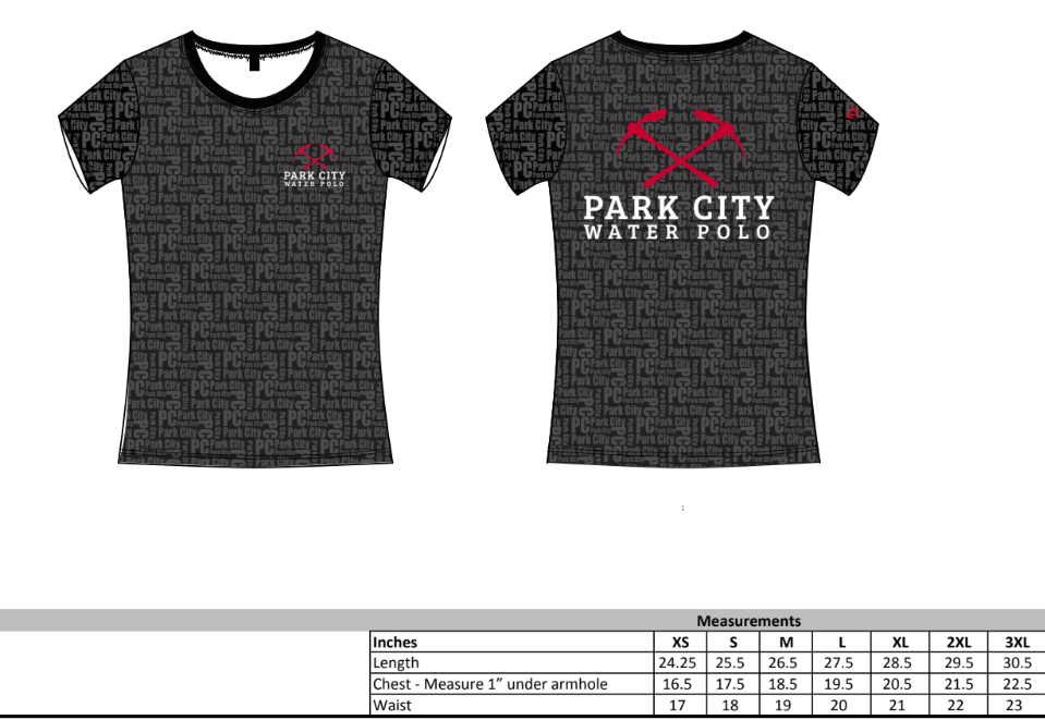 Park City Water Polo Club Women's Fitted Crew Neck T-Shirt