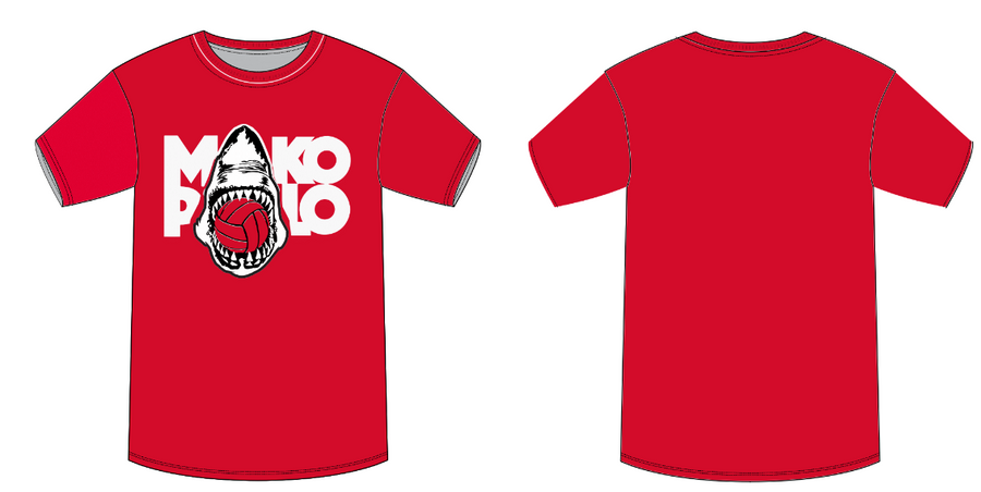 Mako Water Polo Club Red Youth Boy's T-Shirt