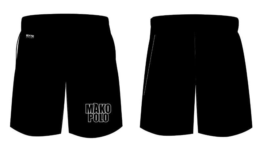Mako Water Polo Club Custom Youth Boy's Gym Short