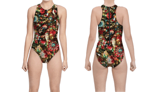 Ornament Exchange Holiday Print Women's Water Polo Suit