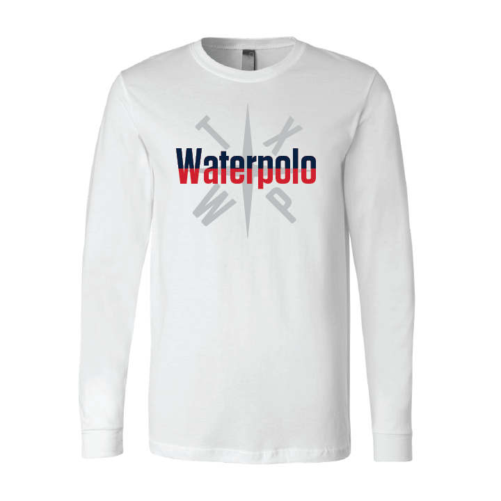 TX Waterpolo Jersey Long Sleeve Tee - White
