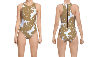 Holiday Tan Deer Women's Water Polo Suit