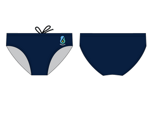 6-8 Sports Athlete Navy Men's Water Polo Brief