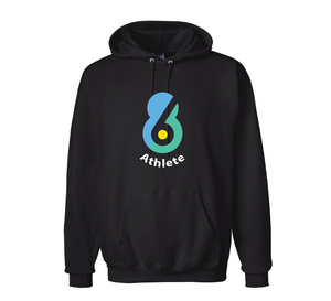 6-8 Sports Custom Black Unisex Adult Hooded Sweatshirt