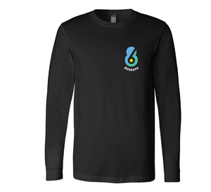 6-8 Athlete Black Unisex Jersey Long Sleeve Tee