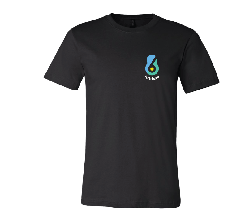6-8 Athlete Black Unisex Jersey Short Sleeve Tee