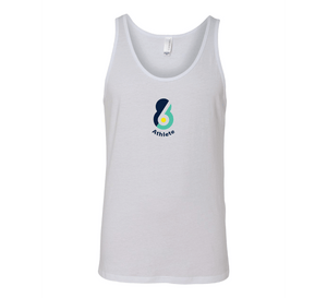 6-8 Athlete White Unisex Jersey Tank