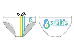 6-8 Sports White Men's Water Polo Brief