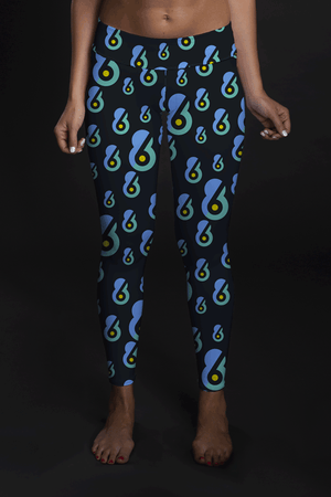6-8 Sports Multi logo Mid-Rise Full Length Leggings