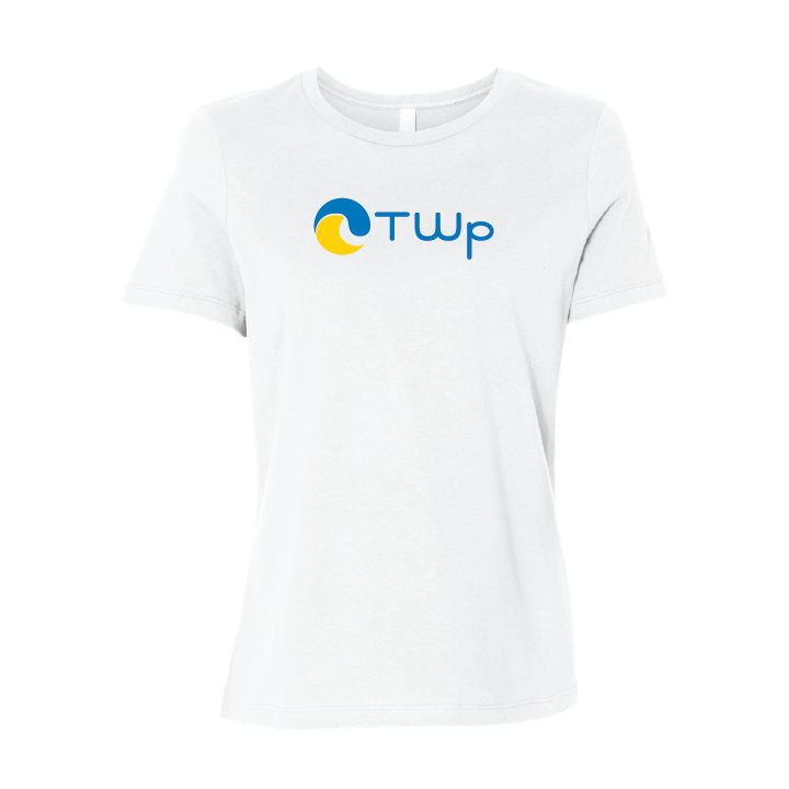 Total Waterpolo Jersey Relaxed Women's Short Sleeve Tee - White