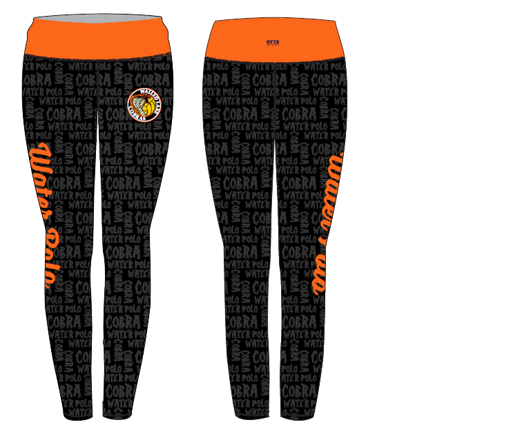 Walled Lake Water Polo Women's Mid Rise Full Length Leggings