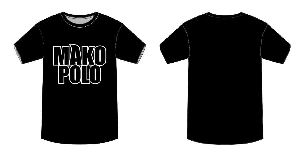 Mako Water Polo Club Black Youth Boy's T-Shirt