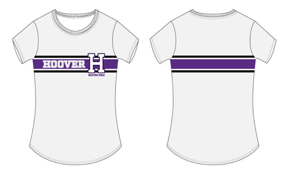 Hoover High School Girls Water Polo Women's Fitted Crew Neck T-Shirt